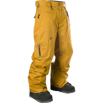Snowboard The Homeschool Men's Line Up Pant hails from the Pacific Northwest where the snow is wet and the gear can't be ghetto. Oozing style and tons of functionality, the pant's 2.5-layer waterproof breathable construction delivers the protection to keep you from marinating through your wet pants and looking like a tourist in the process. - $112.48