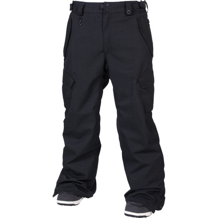 Snowboard The 686 Mannual Infinity Insulated Pant keeps it simple with solid waterproofing power, low-bulk insulation, and classic cargo styling that's all but trend-proof. Not to mention plenty of rad details like a key clip, fleece-lined pockets, and a warm taffeta lining. - $105.00