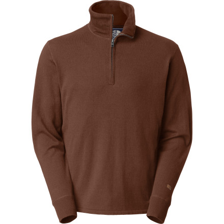 Camp and Hike The North Face achieved just the right fabric blend with the Mt. Tam 1/4-Zip Sweater. An optimal mix of cotton, wool, and nylon offers a plush feel and comfort aplenty whether you're layering up at camp during sunset or just lounging on the couch on a Sunday evening. - $69.95
