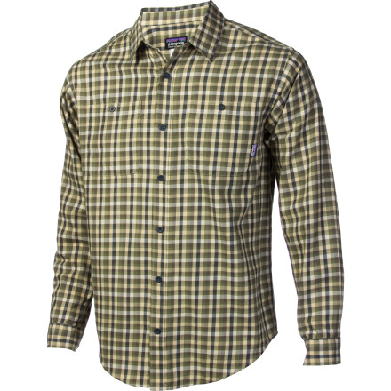 Look no further than the Patagonia Mens Pima Cotton Long-Sleeve Shirt when you need a simple, comfy shirt to wear. Made with organic cotton, this relaxed fit garment makes life easier to do with. - $51.35