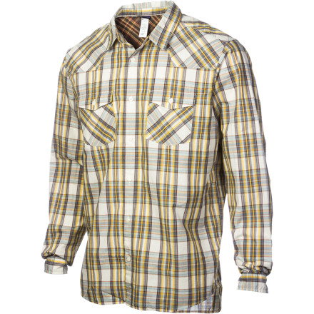 Button up the Patagonia Men's Good Shirt, grab that novel you've been waiting to read, and head out to the hammock. Coo cotton fabric keeps you riding in comfort while you escape for an hour or so. - $47.40