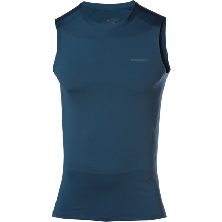 Surf Even without sleeves the Patagonia Men's Capilene 1 Stretch Tank can protect you from the sun and help move sweaty moisture away from your skin so you stay dry. Patagonia treated the stretchy fabric with a Gladiodor treatment that fends off funky odors so you won't smell like a locker room after a day on the trail. - $25.00