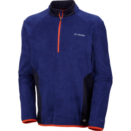 Featuring Omni-Heat technology, the Columbia Men's Heat 360 II 1/2-Zip Top is versatile layering piece that's designed to trap in body heat without feeling overly constrictive or stifling. - $46.72