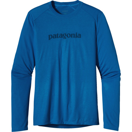 Camp and Hike If you plan on passing out on your lounge chair you may want to put on the Patagonia Mens Polarized Long-Sleeve T-Shirt. Its lightweight polyester jersey fabric has built in UPF 25-rated sun protection so you dont end up with a ton of sun freckles later on in life. The Polarized also has off-set shoulder seams which makes hiking with your pack more comfortable and enjoyable. - $31.50