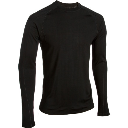 The Patagonia Merino 3 MW Long-Sleeve Crew uses wicking, moisture managing fabric to help your body regulate temperature so you stay comfy whether you're working up a sweat pounding moguls or feeling the chill on the lift. - $61.93