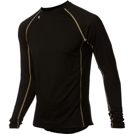 Ski With super-smooth fabric that breathes better than a pro cyclist at sea level, the Stoic Men's Merino 200 Crew serves as a baselayer for every season. Midweight merino wool and a close-to-skin fit helps retain your core warmth while still providing some room for additional layering underneath. After a week of running, ski touring, or backpacking, this shirt won't smell like a foot because merino naturally resists accumulating odors, even if you sweat like a pig. - $47.40