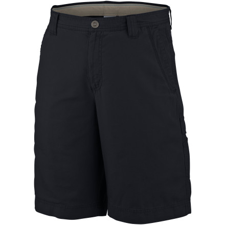 Camp and Hike Omni-Shield technology protects the Columbia Men's Roc Short from dirt and stains when you can't resist getting too close to nature. Omni-Shade UPF 50 sun protection lets you enjoy the relaxed feel of the Roc, even when shade is scarce. A side zip pocket keeps your keys in place when gravity and thick brush challenge you to a duel and after you're done harmonizing with Gaia you can head into town and hit your favorite burger spot without looking like a wild man. - $39.95