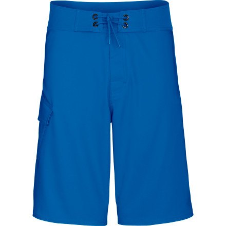 Surf The North Face Class V Stretch Board Short features quick-drying poly fabric with built-in stretch to maximize your range of motion while out on the water. - $34.97