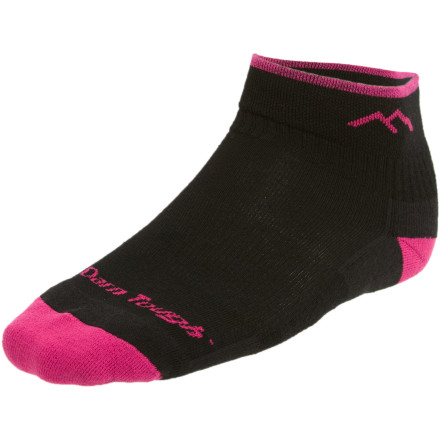 Fitness The Darn Tough Women's Merino Wool 1/4 Cushion Running Socks are packed with performance-enhancing features and comfort so you can concentrate on your pace and stride. High-density cushioning, invisible seams, arch support, and reinforced heels and toes combine forces to please your feet as the miles melt away behind you. - $11.02