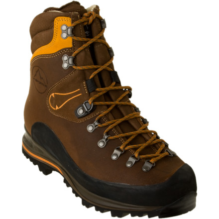 Camp and Hike Your ambitious backpacking trip itinerary might fall to pieces without durable, high-top footwear like the La Sportiva Pamir Backpacking Boot. Made with tough, weather-combating leather, this burly boot withstands frequent use and abuse and provides plenty of ankle support for tricky terrain. - $269.06