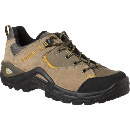 Camp and Hike Whether youre hiking a bumpy backwoods track, walking the dog along a gravel trail, or standing for hours while coaching a soccer game, count on the Lowa Mens Tempest Lo Hiking Shoe for extended comfort. Lowa shaved the weight and improved the stability on the Tempest Lo with its new Monowrap midsole construction. Add the shock-absorbing Vibram outsole and these shoes fit the bill for excursions on easy to moderate terrain. While youre working up a sweat, your feet stay cool thanks to the wicking lining and the Lowa Climate Control System, which allows air to enter the lining while each step pumps heat and moisture out. - $121.46