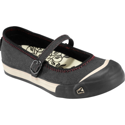 Whether you're cruising across campus or strolling the farmers market, the KEEN Women's Coronado MJ Shoe provides the perfect blend of comfort and casual style. Natural canvas uppers and an adjustable instep strap snugly wrap around your foot while the Metatomical PU foot bed gives you the support and custom feeling fit you need for all day comfort. - $38.99