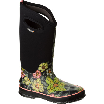 Tromping around outdoors when the temps drop and the snow falls and everyone else is huddles inside can be wickedly satisfying, something you'll discover with the Bogs Classic High Stargazer Boot. 100% waterproof and comfort rated to -40 degrees, this boot is a winter beast; and with its moisture-wicking and odor-fighting liner, non-marking and self-cleaning sole, and stretchy inner bootie, it will bust you out in classy comfort. - $82.49