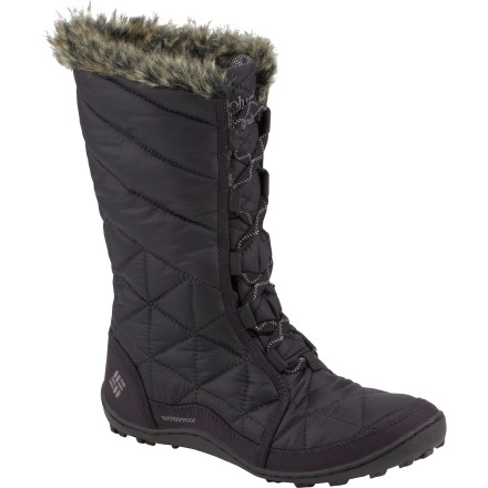 The Columbia Minx Mid Winter Boot keeps your foot warm and dry when Mother Nature does her worst. The water-resistant upper takes care of snow drifts while the specially designed Omni-Grip snow lugs give you traction on the slippery stuff. - $95.96
