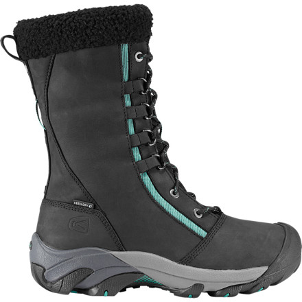 When high style and mountain function come together you have the KEEN Womens Hoodoo High Lace Boot. This winter trudge through snow banks and make your way to the restaurant with the waterproof breathable Hoodoo. - $62.98