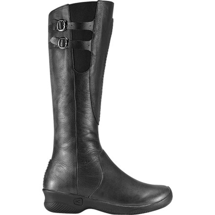 Burn rubber and jet-set around the world in the Keen Bern Baby Bern Boot. Full leather and a high-shaft design make the Bern Baby Bern desirable for international or downtown adventures. Decorative buckles add class but maintain simplicity, while a full side zip and wedge heel round out this Paris-worthy piece. - $63.98