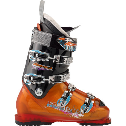 Ski Take charge of your downhill destiny once you slip into the Nordica Enforcer Ski Boot and use its stiff flex to command your ski to take no sh*t from any part of the mountain. The Pro Freeride Shell Construction provides the pow-slaying, cliff-stomping stiffness and stability you need to satisfy your insane skiing style that makes most friends and relatives think something is wrong with you. - $269.55