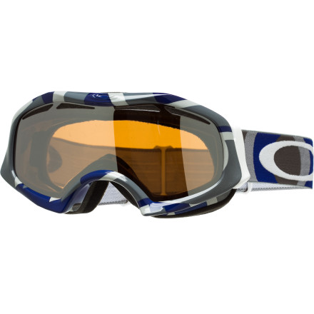Ski Spectacled skiers and boarders can easily wear their prescription glasses under the Oakley Catapult OTG Goggle, which blocks the snow and sun to enhance vision and the overall radness of any day on the mountain. Its wide, flexible frame fits over most eye-glass styles while its vented lens blocks UV rays, snow, and glare to add even greater clarity than your eyeglasses. - $70.00