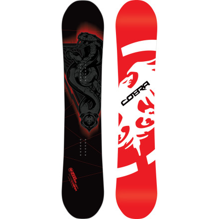 Snowboard Never Summer's flagship all-mountain ride, the Cobra Snowboard features an all-new directional shape that floats through the deepest wind drifts and charges early-morning hardpack like a bat out of hell. The Carbonium topsheet and laminate offer powerful, responsive turns at minimal weight, while the hybrid Rocker & Camber profile gives you more than enough playfulness to session the jump line or spin off a rock drop. - $391.99