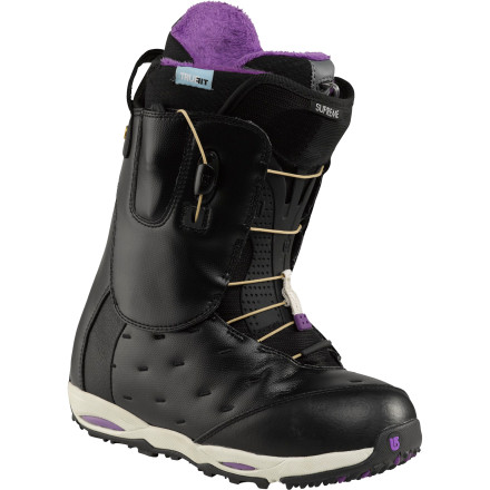 Snowboard It's not hard to see why the Burton Women's Supreme Snowboard Boot really does reign supreme. Delivering insane response for the avid freerider, the Supreme sports a lengthy laundry list of tech coming together to make pressure points a thing of the past and to get you riding like a pro. - $239.97