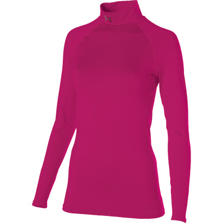 Fitness Cold-weather athletes who focus on simplicity need look no further for their next baselayer than the Under Armour UA Evo ColdGear Mock Top. This moisture-wicking garments 4-way stretch fabric allows for the most custom fit possible and accelerates dry time after a sweaty run so you stay warm as your heart-rate returns to normal. Flatlocked construction reduces chafing, and an ultra-brushed interior traps the most warmth possible. - $32.47