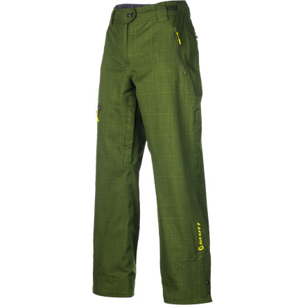 Snowboard Simple, stylie, and shredding up a storm is the way you roll; and the Scott Women's Omak Pant is right there with you. With a regular fit that keeps things loose but not baggy or draggy, weather-protection, and a full lining that feels silky next to skin, this is a no-fuss, no-muss pant that lets you focus on the important things: ripping, slashing, and railing. - $111.97