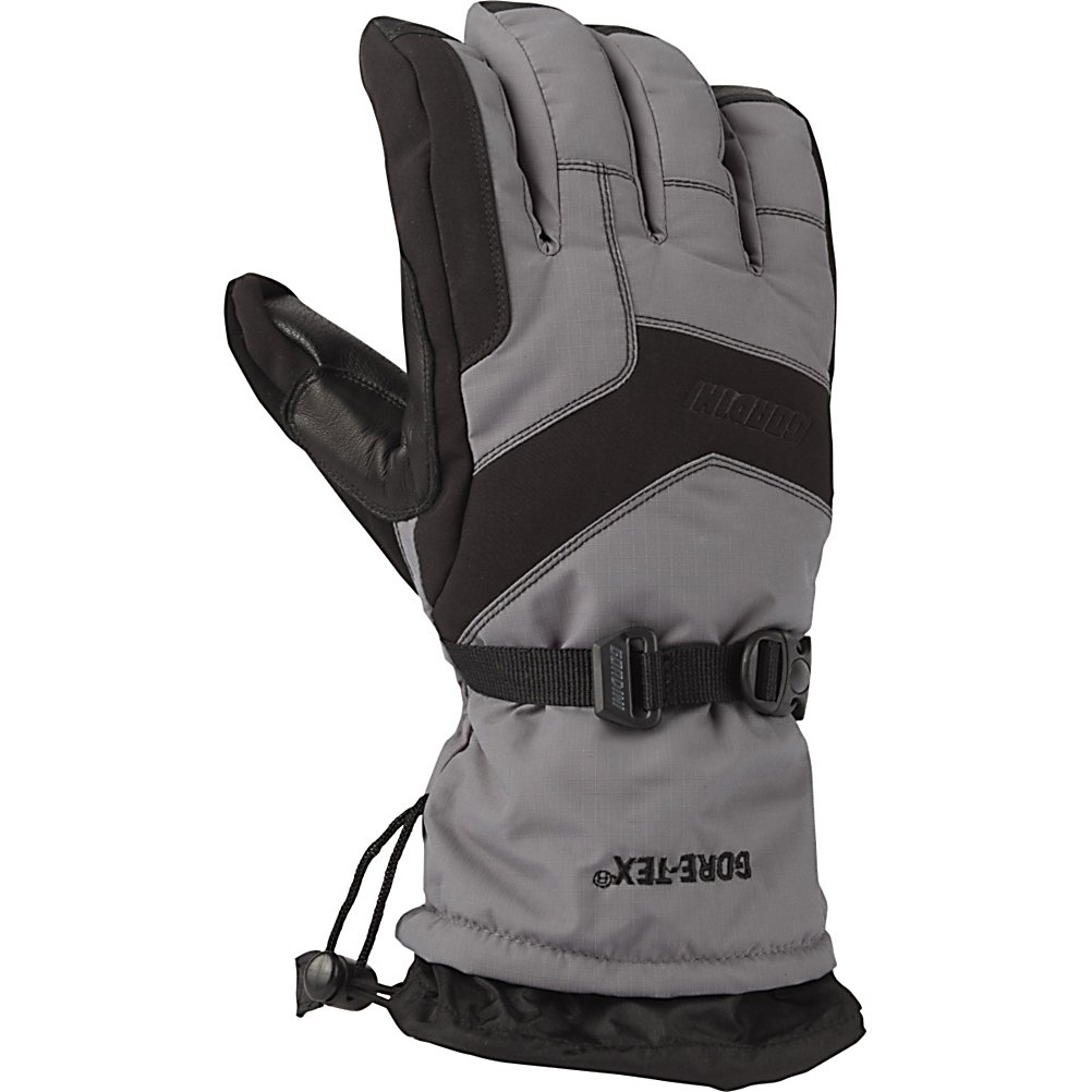 Ski Gordini Da Gore Goose IV Ski Gloves - When you wear a pair of the Gordini Da Gore Goose IV Ski Gloves you have warmth and comfort literally at your fingertips. Made with a durable and reliable heavy denier fabric and 3 layer thermal ply you'll stay protected from the wintry elements that you have to deal with when enjoying your day skiing. Ensuring that your hands and fingers remain cozy is a Naturaloft Insulation Package. This means that you have a 600 fill power of 70% goose down and a 30% waterfowl feathers on back of the hand to help trap the heat inside. Megaloft Insulation on the palm side adds to the overall warmth and comfort of these gloves. What this insulation package offers is some of the warmest gloves out there. But when hands warm up they tend to sweat a bit which is why you'll happy to know that the Gore-Tex insert is breathable allowing moisture to leave the gloves but also making sure that the exterior precipitation doesn't enter the glove. Sturdy and strong and made for the skier that wants to feel warm and comfy when they're hitting the slopes, the Gordini Da Gore Goose IV Ski Gloves are perfect for you. Features: Gore-Tex, Pre-Curved Construction, Nose Wipe. Removable Liner: No, Material: Heavy Denier Fabric and 3 Layer Thermal Ply, Warranty: One Year, Battery Heated: No, Race: No, Type: Glove, Use: Ski/Snowboard, Wristguards: No, Outer Material: Nylon, Waterproof: Yes, Breathable: Yes, Pipe Glove: No, Cuff Style: Over the cuff, Down Filled: Yes, Model Year: 2013, Product ID: 288475 - $69.92