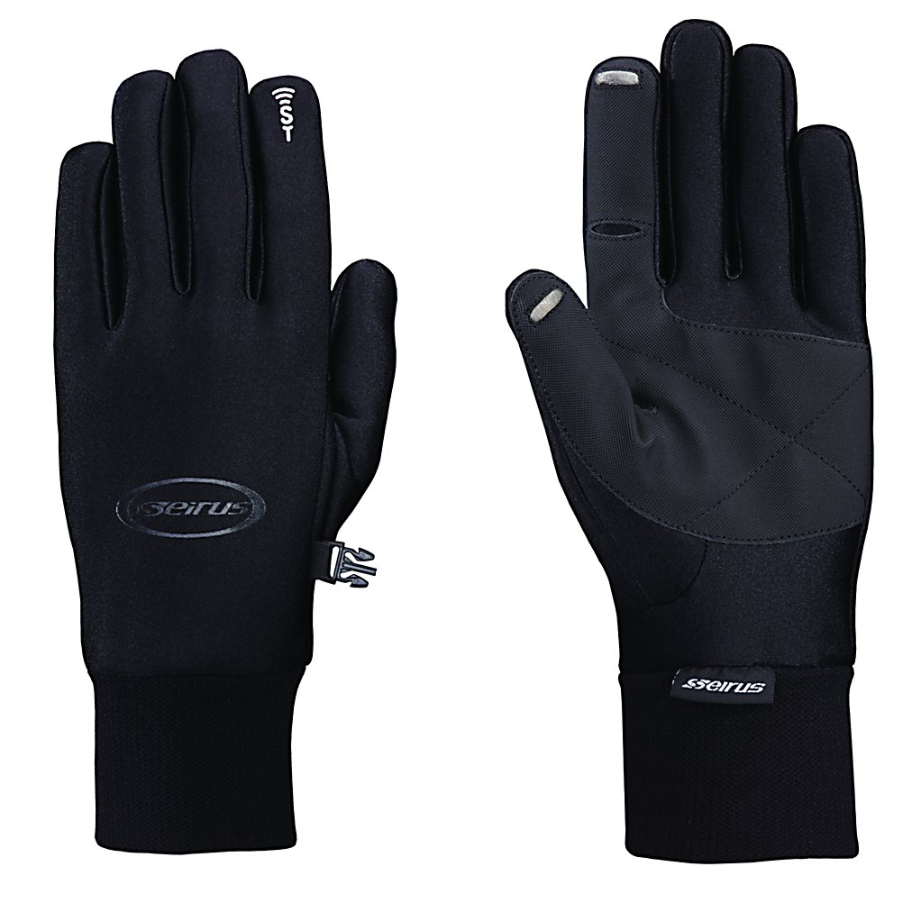 Ski The Sound Touch All Weather Glove liners have the Sound Touch Technology so you can leave on your glove liners - keeping your hands warm and protected while being able to utilize your fingers using your electronic devices. As the snow sports industry evolves, Seirus Innovation continually studies and adapts to new trends. Seirus is constantly creating and improving there products to meet the needs of active outdoor enthusiasts, priding themselves on innovation. With the ever changing snow sports market, you can rely on Seirus remaining at the forefront of cutting edge product.  Sound Touch Technology Gloves, you don't have to take them off,  Weathershield Shell,  Ultra grip Palm. Touchscreen compatible,  Fleece Lined,  Removable Liner: No, Material: Fleece Liner, Warranty: One Year, Battery Heated: No, Race: No, Type: Glove, Use: Liner, Wristguards: No, Glove Outer Fabric: Softshell, Waterproof: No, Breathable: Yes, Pipe Glove: No, Cuff Style: Under the cuff, Down Filled: No, Touch Screen Capable: Yes, Glove Quality: Better, Glove Weather Condition: Spring, Glove/Mitten Insulation: Synthetic, Model Year: 2017, Product ID: 288522, Model Number: 1172.1.0012, GTIN: 0090897044331 - $39.99