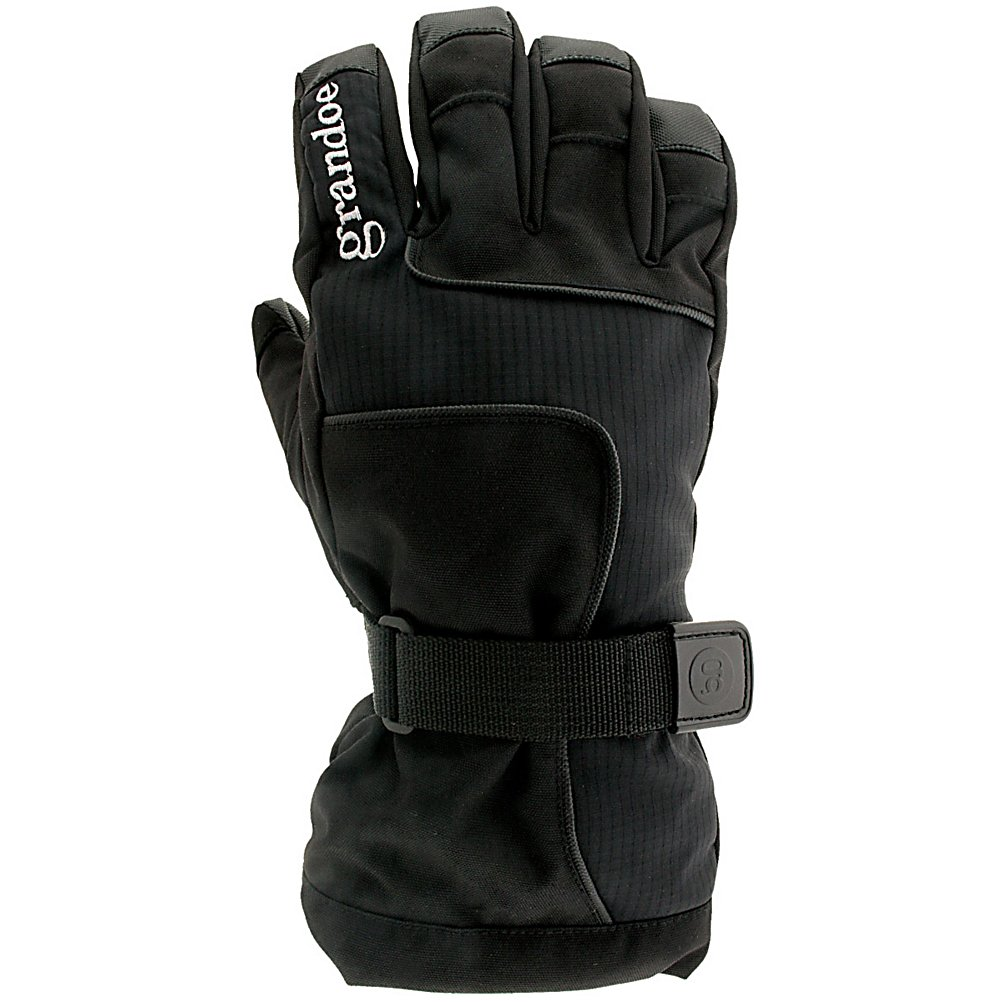 Ski Grandoe Phantom Gloves - The Dri-Gard waterproof/breathable insert, rolled finger caps, and a nosewipe thumb tip make the Grandoe Phantom a fantastic style with extreme value. Other great features include a Velocity Soft-Shell flex panel and Vulcan Grip palm. The GX4 and Velocity Soft-Shell is a premium stretch soft-shell exclusive to Grandoe. It's as sleek and soft as it is durable so your hands stay completely comfortable. Water resistant and breathable properties keeps your hands bone dry. Vulcan grip palm provides enough grip to make Spock proud. Dri-Gard insert is a monoporous waterproof and breathable membrane that you will only find in Grandoe gloves. ThermaDry is a premium high loft, hollow core fiber insulation that's going to keep your hands nice and warm so you can concentrate on the shred. Nosewipe Thumb Tip provides a way for you to wipe the winter nasal drippage. Grandoe does not mess around when it comes to tech. . Removable Liner: No, Material: Velocity Soft-Shell, Warranty: One Year, Battery Heated: No, Race: No, Type: Glove, Use: Ski/Snowboard, Wristguards: No, Outer Material: Softshell, Waterproof: Yes, Breathable: Yes, Pipe Glove: No, Cuff Style: Over the cuff, Down Filled: No, Touch Screen Capable: No, Model Year: 2013, Product ID: 289779 - $59.99