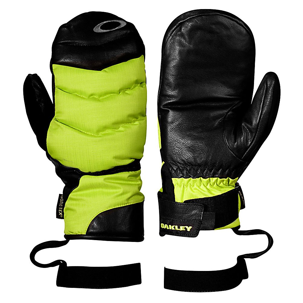 Ski Oakley The 72 Mittens - Keep your hands warm and dry with the Oakley The 72 Mitt. These mittens are made with a Gore-Tex, ripstop nylon shell that will keep your hands dry. These mittens feature Thinsulate insulation that will keep your hands toasty warm no matter how cold it gets. The brushed antimicrobial make these mittens so comfortable you may want to wear them around the house. Your hands will be able to move freely with the tri curve finger geometry and the hook and loop wrist closure on the Oakley The 72 Mitt allows you to get a secure and comfortable fit. . Removable Liner: No, Material: Gore-Tex, Ripstop Nylon, Warranty: One Year, Battery Heated: No, Race: No, Type: Mitten, Use: Ski/Snowboard, Wristguards: No, Glove Outer Fabric: Nylon, Waterproof: Yes, Breathable: Yes, Pipe Glove: No, Cuff Style: Under the cuff, Down Filled: No, Touch Screen Capable: No, Glove Quality: Best, Glove Weather Condition: Frigid, Glove/Mitten Insulation: Synthetic, Model Year: 2013, Product ID: 291814, Model Number: 94184-789 M, GTIN: 0885614733502 - $59.99