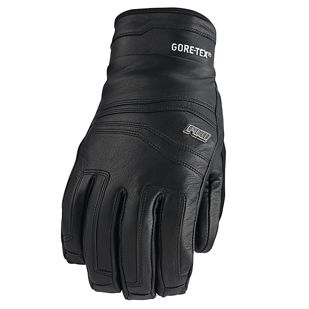 Ski POW Stealth GTX Gloves - Fly by gapers and everyone else with ease on the mountain with a versatile leather glove ready to go mock speed down the hill. The Pow Stealth GTX Glove is perfect for cold winter days filled with cold, harsh conditions. Goatskin leather shell and palm resists abrasions and well break in over time, improving the fit the longer you wear them. The waterproof/breathable Gore-Tex insert keeps your hands dry and the super-warm Primaloft One insulation get your hands warmer, allowing you to ride longer. Ultra Magic no snag closure system makes life easy for riders when taking off and putting on the Stealth GTX. The Stealth GTX is the perfect glove for any rider looking be bold on the mountain. . Removable Liner: No, Material: Primaloft, Warranty: One Year, Battery Heated: No, Race: No, Type: Glove, Use: Ski/Snowboard, Wristguards: No, Outer Material: Leather, Waterproof: Yes, Breathable: Yes, Pipe Glove: No, Cuff Style: Under the cuff, Down Filled: No, Touch Screen Capable: No, Model Year: 2013, Product ID: 292610 - $49.99