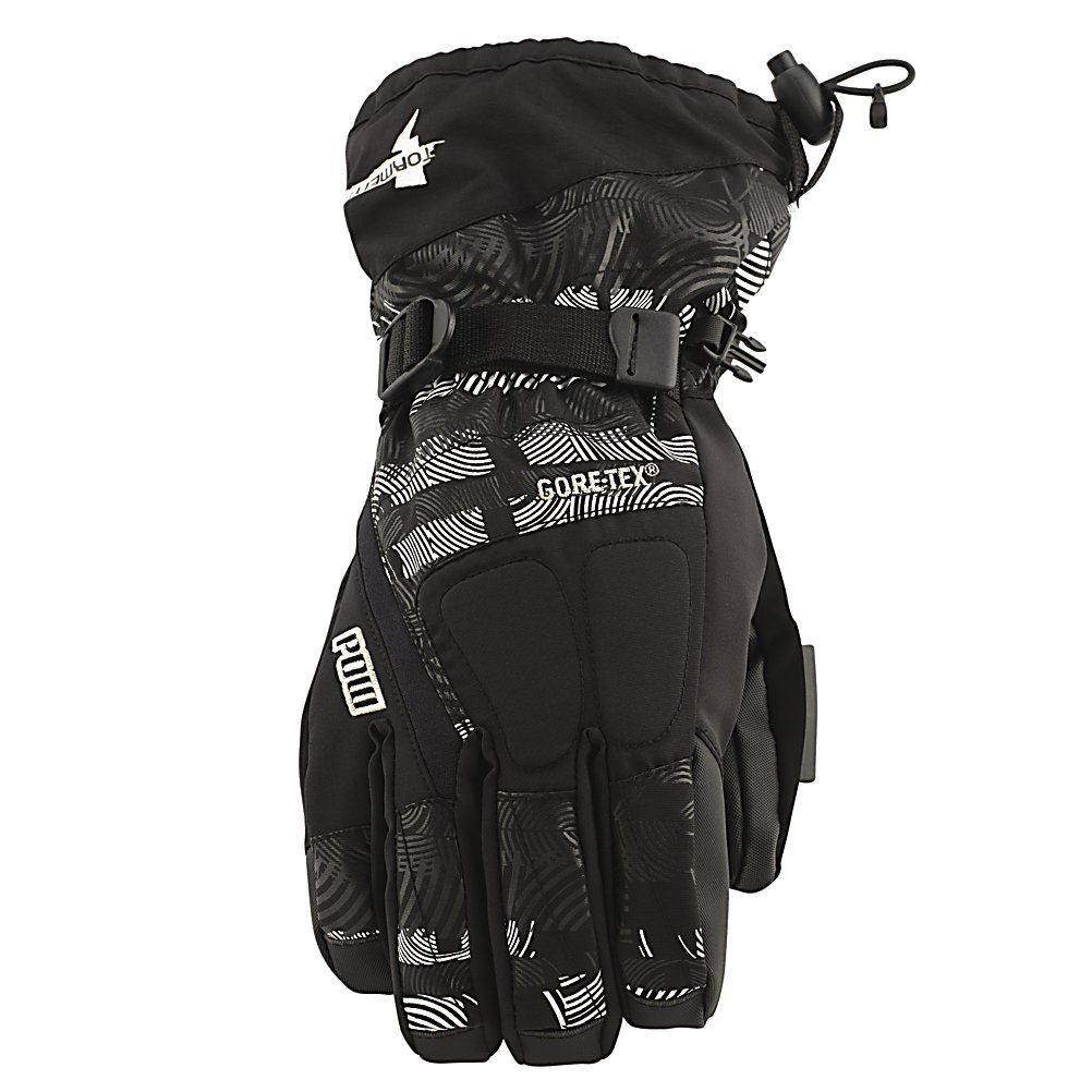 Ski POW Tormenta GTX Gloves - A glove should protect your fingers from melting snow, bone-chilling temps, and everything else you encounter during your many laps down from the summit. Unfortunately not every glove holds to those standards but Pow Glove do. The Tormenta GTX glove is the perfect all-weather glove for you this winter. The shell of the Tormenta is a DWR coated premium fabric for increased breathability and abrasion resistance, perfect for any mountain rider. Rubber-Tex is a durable palm material that provides a much needed tack for grip. Keep your hands warm with Primaloft, Primaloft is a microfiber structure in the glove that helps the hands retain warmth while outside in cold conditions. The Tormenta GTC Glove makes all other gloves look like a driving glove. Features: Insulation- 4oz Primaloft ONE. Warranty: One Year, Battery Heated: No, Wristguards: No, Waterproof: Yes, Breathable: Yes, Cuff Style: Over the cuff, Touch Screen Capable: No, Model Year: 2013, Product ID: 292631, Down Filled: No, Pipe Glove: No, Outer Material: Nylon, Use: Ski/Snowboard, Type: Glove, Race: No, Material: Primaloft, Removable Liner: Yes - $80.00