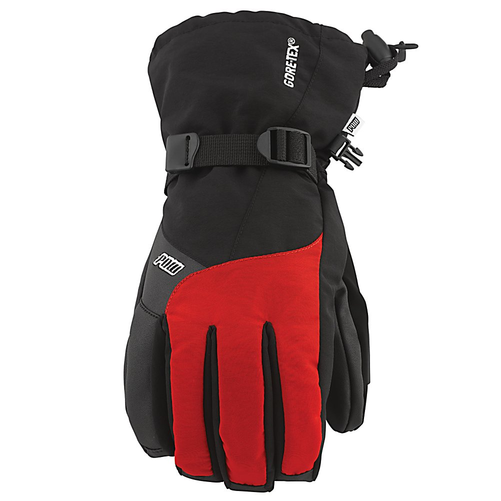 Ski POW Warner GTX Gloves - When its cold outside and the snow is falling, there is only one glove that is going keep you warm, that glove is the Pow Warner GTX Glove. The Warner GTX is constructed of Sotina Nylon is a premium bases nylon material with waterproof and breathability properties of 20,000mm and 20,000g. Which as a result is going to keep your hands dry and warm all day long while you play. To compliment the Sotina Nylon, Gore-Tex inserts are going to make the Warner GTX Glove waterproof. Rubber-Tex is a durable palm material that provides a much needed tack for grip while the Kevlar flax zone provides support. Slip on the Warner GTX Glove the experience all that winter has to offer. Features: Insulation- 200g 3M Thinsulate. Removable Liner: No, Material: Thinsulate, Warranty: One Year, Battery Heated: No, Race: No, Type: Glove, Use: Ski/Snowboard, Wristguards: No, Outer Material: Nylon, Waterproof: Yes, Breathable: Yes, Pipe Glove: No, Cuff Style: Over the cuff, Down Filled: No, Touch Screen Capable: No, Model Year: 2013, Product ID: 292637 - $65.00