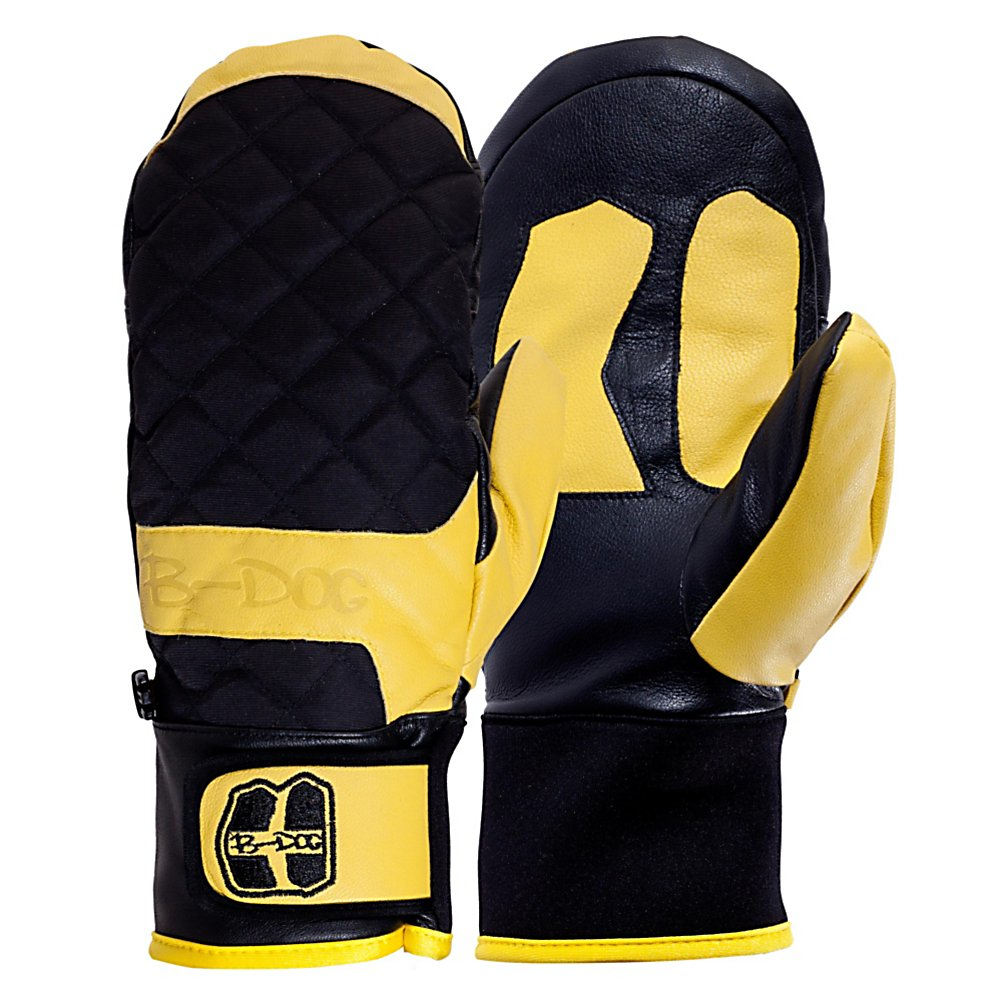 Ski Armada B-Dog Ski Mittens - No more are the mittens from your childhood that would get wet and cold and rip within 20 minutes of wearing them; the B-Dog Mitt is truly the mitten for the adult generation. The MegaGoat leather that this mitten is made of gives you a durable and water resistant mitten that looks and feels great on your hands. These mitts can handle anything that you dish out to them. This is an all leather mitt that looks great and comes in a few different colors to go with whatever outfit you are wearing on the hill. If you are worried about your hands getting cold, no need to fret! There is 70 grams of Thinsulate insulation to keep your fingers toasty warm and the open area where your fingers go let them warm each other up as well. Lazy Fingers construction makes sure you get the best fit and dexterity available with the pre-curved area over your fingers on these mittens. The microfleece liner inside the mitts means that these arent just warm, they are comfortable. The Armada B-Dog mitten is the perfect mitten for any day on the slopes or in town. . Removable Liner: No, Material: MegaGoat Leather, Warranty: Other, Battery Heated: No, Race: No, Type: Mitten, Use: Ski/Snowboard, Wristguards: No, Outer Material: Leather, Waterproof: Yes, Breathable: Yes, Pipe Glove: No, Cuff Style: Under the cuff, Down Filled: No, Model Year: 2013, Product ID: 292760 - $69.95