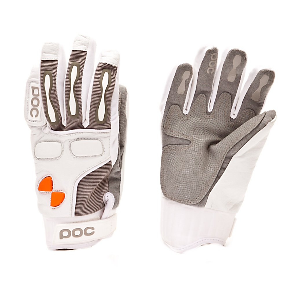 Ski POC Print Gloves - The POC Print Gloves are a high-performance pair of gloves that are MotoX-inspired. Its short cuff fits tightly and securely around your wrists. Splint protection over the knuckles and anti-burn protectors provide you with some of the best guards against pain in the fingers and back of the hand. Whether you're a downhill racer or enjoy some park or spring skiing, the POC Print Gloves are an excellent choice. . Removable Liner: No, Material: Goat Skin Leather, Warranty: One Year, Battery Heated: No, Race: Yes, Type: Glove, Use: Ski/Snowboard, Wristguards: No, Outer Material: Leather, Waterproof: No, Breathable: No, Pipe Glove: No, Cuff Style: Under the cuff, Down Filled: No, Category: Race, Touch Screen Capable: No, Model Year: 2011, Product ID: 293505 - $39.95