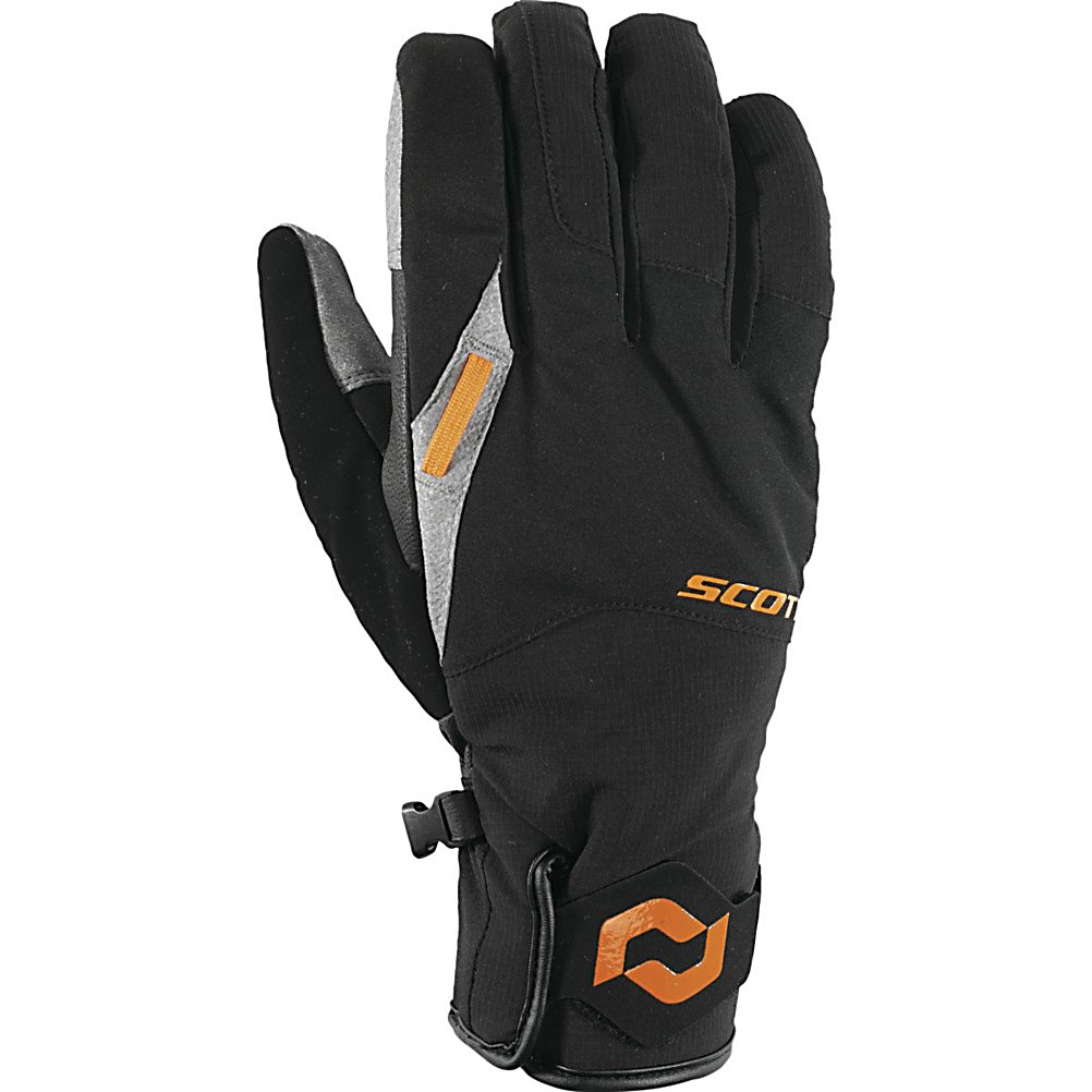 Ski Scott Belmont Gloves - The Scott Belmont is a stylish and fictional glove. Using both a Ripstop softshell and Leather palm gives you a breathable and waterproof glove. The 120g of Hyperloft insulation will make your hands toasty in all conditions. The Scott Belmont is a wonderful hybrid glove and should be included with your gear. . Removable Liner: No, Material: Softshell/ Atomic Pittard's Leather, Warranty: One Year, Battery Heated: No, Race: No, Type: Glove, Use: Ski/Snowboard, Wristguards: No, Outer Material: Softshell, Waterproof: Yes, Breathable: Yes, Pipe Glove: No, Cuff Style: Under the cuff, Down Filled: No, Touch Screen Capable: No, Model Year: 2013, Product ID: 296185, Model Number: 224512-1009006, GTIN: 0886118195803 - $69.91