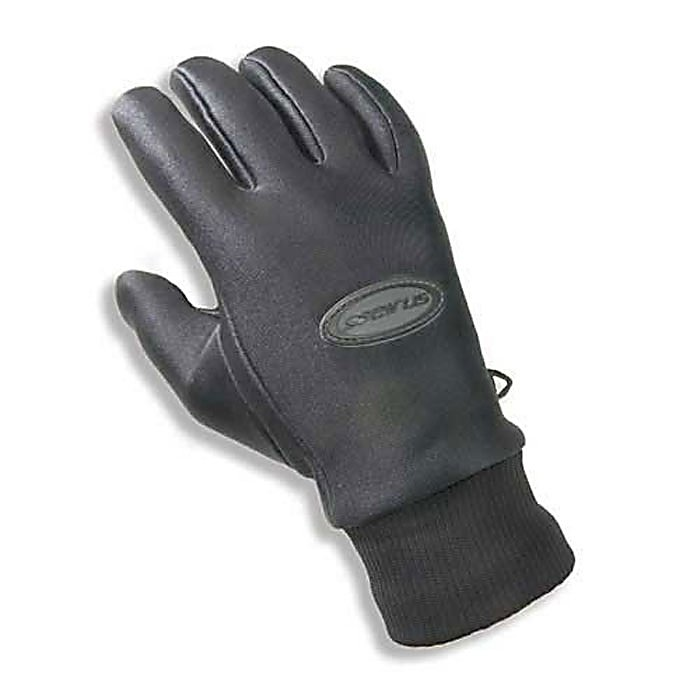 Ski Seirus All Weather Gloves - Featuring Weather Shield fleece-lined fabric, Serius Innovation's All Weather Mens Glove provides you with optimal waterproof, windproof protection in a lightweight, warm construction. Built with a Weathershield membrane sandwiched between the outer shell and it's fleece lining, you are provided with a barrier against wind and water while keeping the interior of the glove warm. The outer nylon layer is tough yet flexible to allow complete dexterity while the reinforced Kev-Tech palm, thumb and forefinger provided abrasion-resistance and excellent grip. The Serius All Weather Mens Glove is the perfect addition to your winter wardrobe. . Product ID: 95710, Model Year: 2013, Touch Screen Capable: No, Down Filled: No, Cuff Style: Under the cuff, Pipe Glove: No, Breathable: Yes, Waterproof: Yes, Outer Material: Softshell, Wristguards: No, Use: Ski/Snowboard, Type: Glove, Race: No, Battery Heated: No, Warranty: One Year, Material: Fleece Lined, Removable Liner: No - $44.95