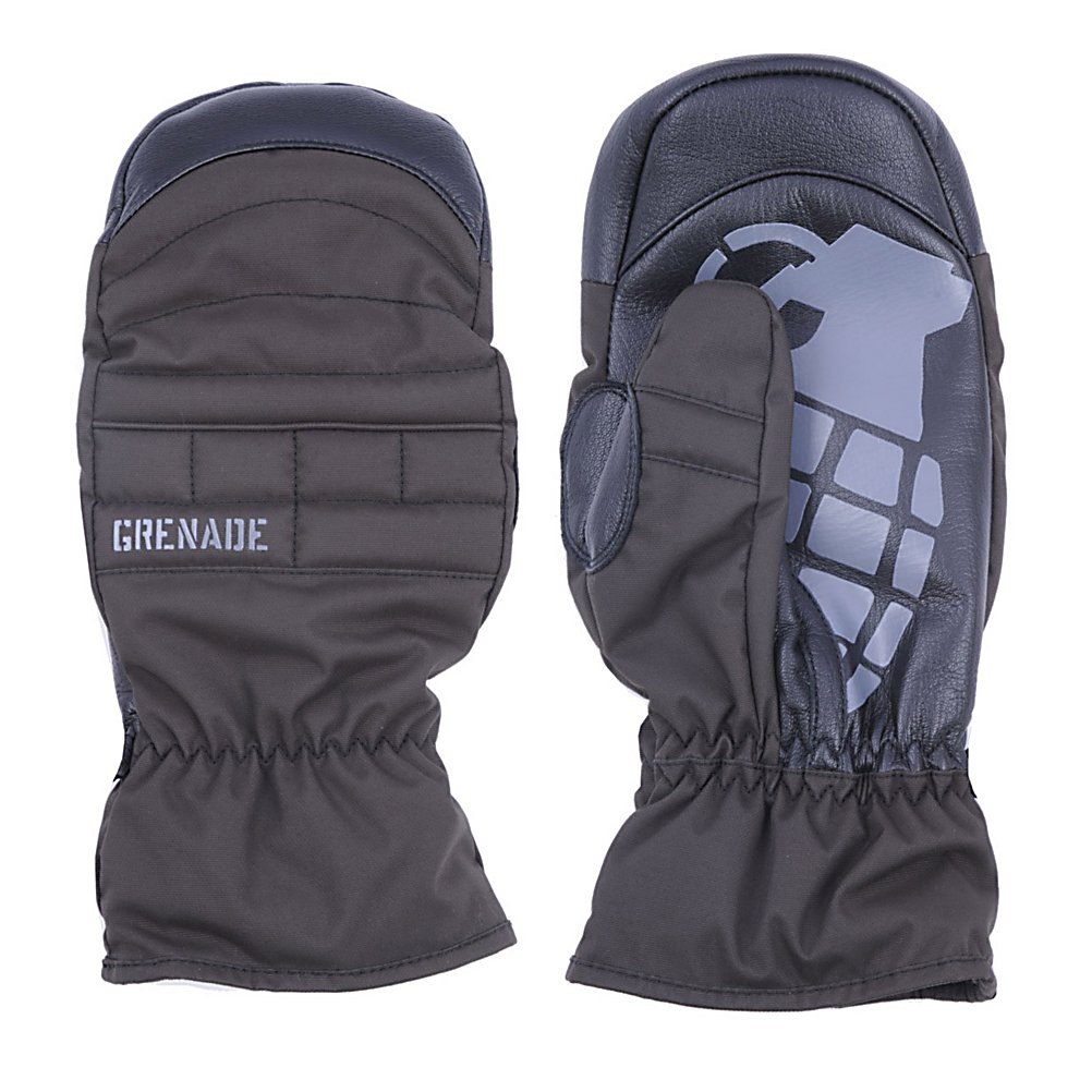 Snowboard Grenade Exploiter Snowboard Snowboard Mittens - This classic looking mitten is far from just ordinary. With the Grenade Exploiter Mens Snowboard Mitten you'll have the strength of a leather palm not only keeping your digits warm but also fighting off the wintry elements and ensuring they remain on the outside of the mitten. A sewn-in fleece liner provides the softness and warmth you want when those temperatures drop. The Exploiter Mens Snowboard Mittens have it all for superior warmth and durability. . Removable Liner: No, Material: Leather, Warranty: Other, Battery Heated: No, Race: No, Type: Mitten, Use: Ski/Snowboard, Wristguards: No, Outer Material: Leather, Waterproof: Yes, Breathable: Yes, Pipe Glove: No, Cuff Style: Under the cuff, Down Filled: No, Model Year: 2012, Product ID: 249905 - $39.98