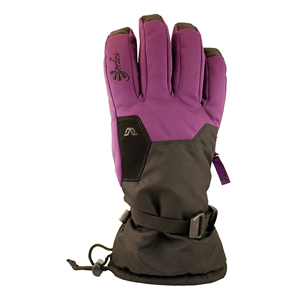 Ski Gordini Stomp II Womens Gloves - It's a combination of a bright blue sky and a cold wind as you stand at the peak of the mountain. The wind chill hovers in the single digits and your hands are warm and certainly not wet in the Gordini Stomp II Gloves. Insulating the gloves is Megaloft technology that keeps the hands and fingers nice and warm. The Hydrowick Microdenier lines the interior to help absorb moisture in the glove and the Aquabloc seam-sealed insert makes your gloves ultra breathable, waterproof and windproof. Aquabloc is exclusively engineered for handwear, a technology that allows moisture accumulated from within the glove to escape and provide breathability and enhanced warmth and comfort. The shell of the Gordini Stomp II Gloves is a mini ripstop with trisoft waterproof, windproof and breathable fabric. Digital-grip palms, fingers, thumbs, and wrap caps aid in giving you a sturdy grip on anything from a ski pole to a snow shovel to a runaway snowblower. Keeping the snow from entering and the heat from exiting is a Gauntlet Cinch Closure. There's a nose wipe in case the chilly weather makes your nose run a bit and a zippered heater pack pocket for that added warmth on the frigid winter nights. For comfort, warmth and dry hands go with the reliable Gordini Stomp II Gloves. Features: Gauntlet cinch closure, Nose wipe, Zippered heaterpack pocket. Removable Liner: No, Material: Mini ripstop with tri-soft fabric, Warranty: One Year, Battery Heated: No, Race: No, Type: Glove, Use: Ski/Snowboard, Wristg - $50.00
