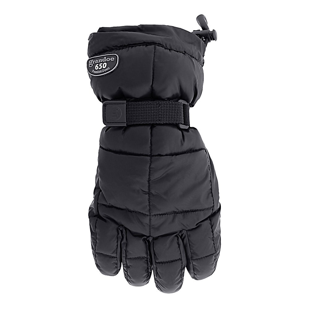 Ski Grandoe Mother Goose Womens Gloves - The Grandoe Mother Goose Womens ski gloves were launched last season and were so popular and successful, Grandoe is now offering the Mother Goose in Pack Lite Poly fabric is very comfortable. The leather radial palm makes the Mother Goose highly durable and ensures they will last for multiple seasons. The Dri-Gard waterproof/breathable insert will aide in keeping your hands warm and dry. Filled with Pure 650 Fill Power Goose Down and Micro ThermaDry your hands will be incredibly warm no matter how cold it gets and a shock cord and barrel lock nylon perfect fit strap ensure you will get the perfect fit with the Mother Goose. . Removable Liner: No, Material: Pack Lite Poly, Warranty: One Year, Battery Heated: No, Race: No, Type: Glove, Use: Ski/Snowboard, Wristguards: No, Glove Outer Fabric: Nylon, Waterproof: Yes, Breathable: Yes, Pipe Glove: No, Cuff Style: Over the cuff, Down Filled: Yes, Touch Screen Capable: No, Glove Quality: Better, Glove Weather Condition: Frigid, Glove/Mitten Insulation: Down, Model Year: 2014, Product ID: 245573, Model Number: SL3567-00133902, GTIN: 0721769893220 - $89.99