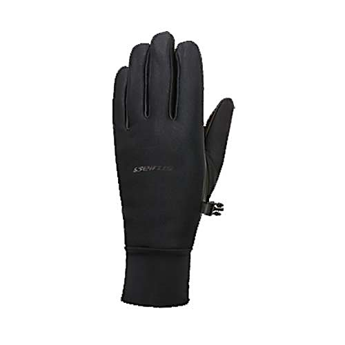 Ski Seirus Leather All Weather Womens Ski Womens Ski Gloves - The Seirus Leather All Weather Ski Gloves are the most versatile, lightweight gloves for any sport, any condition. Seirus exclusive Weather Shield Tri Laminate fabric creates a form fitting second skin that is thin and flexible, yet as warm as bulky gloves. As the snow sports industry evolves, Seirus Innovation continually studies and adapts to new trends. They are constantly creating and improving there products to meet the needs of active outdoor enthusiasts, priding themselves with being on the cutting edge of improvement. With the ever changing snow sports market, you can rely on Seirus remaining at the forefront of innovation. Seirus continues to strive for the creation of new, innovative and unique products that functions best for the user. Features: Durable 4 Way stretch outer, Windproof, waterproof, breathable, Wicking fleece inner lining. Removable Liner: No, Material: Nylon/Poly outer, full leather palm, Warranty: One Year, Battery Heated: No, Race: No, Type: Glove, Use: Ski/Snowboard, Wristguards: No, Outer Material: Softshell, Waterproof: Yes, Breathable: Yes, Pipe Glove: No, Cuff Style: Under the cuff, Down Filled: No, Model Year: 2013, Product ID: 248996 - $39.99
