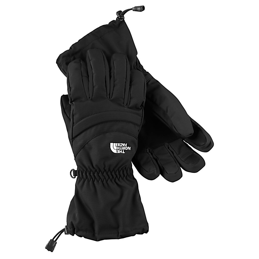 Ski The North Face Etip Facet Womens Gloves - The North Face has added a warm and waterproof shell to their famous Etip Glove to create this, The North Face Etip Facet Glove. This gloves features a HyVent Shell and Insert which is highly waterproof and very breathable. As a skier, snowboarder or just winter outdoors enthusiast, you'll embrace the warm, dry hands while remaining active. To help keep you warm there is Heatseeker Insulation on both the back of the hand and the palm to ensure that the warmth stays inside and the cold on the outside. With the Etip Facet Glove you get a women-specific 5 Dimensional Fit and Radiametric Articulation so that you can have a desirable comfort level and relaxed feeling regardless of your hand size. When the cold weather strikes and you have an itch to head out to the mountain, put on a pair of The North Face Etip Facet Gloves and keep your hands warm, cozy and comfy. Features: Storm Door Cuff Gasket, Super-Warm Fourchette-Box Finger Construction. Warranty: Lifetime, Model Year: 2013, Product ID: 270117, Shipping Restriction: This item is not available for shipment outside of the United States., Touch Screen Capable: Yes, Down Filled: No, Cuff Style: Over the cuff, Pipe Glove: No, Breathable: Yes, Waterproof: Yes, Outer Material: Nylon, Wristguards: No, Use: Ski/Snowboard, Type: Glove, Race: No, Battery Heated: No, Material: HyVent 2L, Removable Liner: No - $85.00