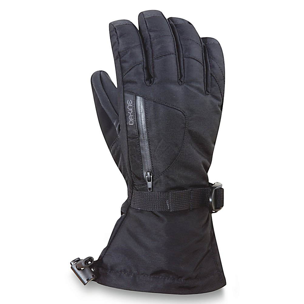 Ski Dakine Sequoia Womens Gloves - The Dakine Sequoia Gloves pack a ton of features into a comfortable glove so you can stay comfy and cozy when you're outside in the winter weather. Cold hands no more! Outfitted with a Gore Tex Insert you'll have the very best in waterproofing and moisture controlling insert out there. Combined with high loft insulation and your hands will stay warm and dry all day. The insulation resists moisture while retaining heat. If you're battling the most frigid of temperatures then toss in a glove warmer in the internal heat pack pocket for extra warmth. Included is chamois goggle wipe to ensure your view stays clear and a nose wipe thumb panel to help against any runny noses. The Dakine Sequoia Gloves also offer an external zippered stash pocket so you have a space to hide the most necessary item. Features: External Zippered Stash Pocket, Chamois Goggle Wipe, Internal Heat Pack Pocket, Nose and Goggle Wipe Thumb Panels. Removable Liner: No, Material: Nylon/Poly with DWR Treatment, Warranty: Lifetime, Battery Heated: No, Race: No, Type: Glove, Use: Ski/Snowboard, Wristguards: No, Outer Material: Nylon, Waterproof: Yes, Breathable: Yes, Pipe Glove: No, Cuff Style: Over the cuff, Down Filled: No, Touch Screen Capable: No, Model Year: 2012, Product ID: 273095 - $49.94