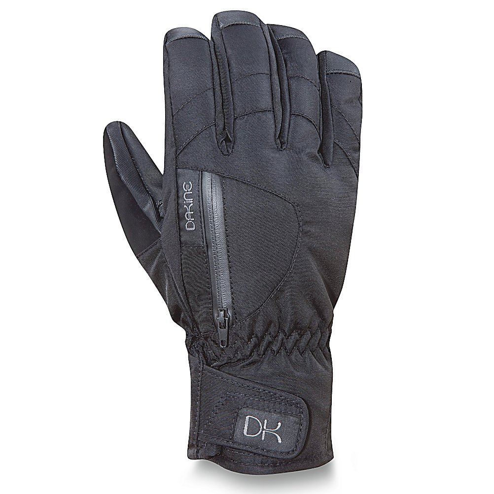 Ski Dakine Sequoia Short Womens Gloves - The Dakine Sequoia Short Gloves are packed full of features to help make your time on the mountain a comfortable and warm one. Starting with its Nylon/Poly Shell with DWR Treatment, you'll have excellent protection against moisture and cold weather. The Durable Water Repellent helps keep the wintry mixture on the outside. With a GoreTex Insert you'll have the best in breathability and waterproofing to ensure your hands stay dry and comfortable. There's a small pocket on the outside to hold something small and important - maybe a key, maybe some Chapstick, and an internal heat pack pocket for glove warmers when those temperatures hit the frigid mark. You'll be able to wipe down the goggles and your nose if necessary with the nose and goggle wipe thumb panels. The Dakine Sequoia Short Gloves are a solid pair of gloves that are warm, comfy and cozy. Features: Internal Heat Pack Pocket, Nose and Goggle Wipe Thumb Panels, Gore Tex Insert. Warranty: Lifetime, Model Year: 2012, Product ID: 273099, Touch Screen Capable: No, Down Filled: No, Cuff Style: Under the cuff, Pipe Glove: No, Breathable: Yes, Waterproof: Yes, Outer Material: Nylon, Wristguards: No, Use: Ski/Snowboard, Type: Glove, Race: No, Battery Heated: No, Material: Nylon/Poly with DWR Treatment, Removable Liner: No - $44.94