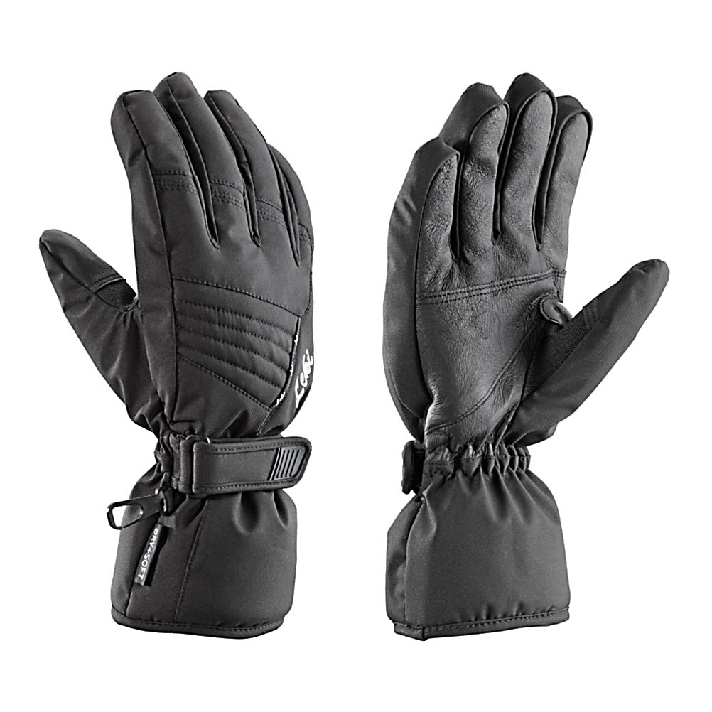Ski The Leki Fever S Womens Ski Gloves are more than just a regular glove to wear skiing, they are designed to keep your hands super comfy and cozy, dry and warm. Its Goatskin Palm helps protect your hand from the wintry elements and will also ensure a solid pole grip and swing. The Micro Bemberg Lining is great for wicking moisture and sweat away from your hands and out of the glove so you can remain dry and warm. These Fever S Gloves have Primaloft Insulation so the warmth inside the glove stays there even in the frigid winter temperatures. If you want style and performance, a women's specific cut and, most importantly, warm hands, then you'll fall in love with the Leki Fever S Ski Gloves.  Micro Bemberg Primaloft Lining,  Lady Specific Cut,  GTIN: 4028173037698, Model Number: 631 87202 075, Product ID: 279019, Model Year: 2014, Glove/Mitten Insulation: Synthetic, Glove Weather Condition: Average, Glove Quality: Better, Down Filled: No, Cuff Style: Over the cuff, Pipe Glove: No, Breathable: Yes, Waterproof: Yes, Glove Outer Fabric: Softshell, Wristguards: No, Use: Ski/Snowboard, Type: Glove, Race: No, Battery Heated: No, Warranty: One Year, Material: Poly Soft and Goatskin, Removable Liner: No - $24.93