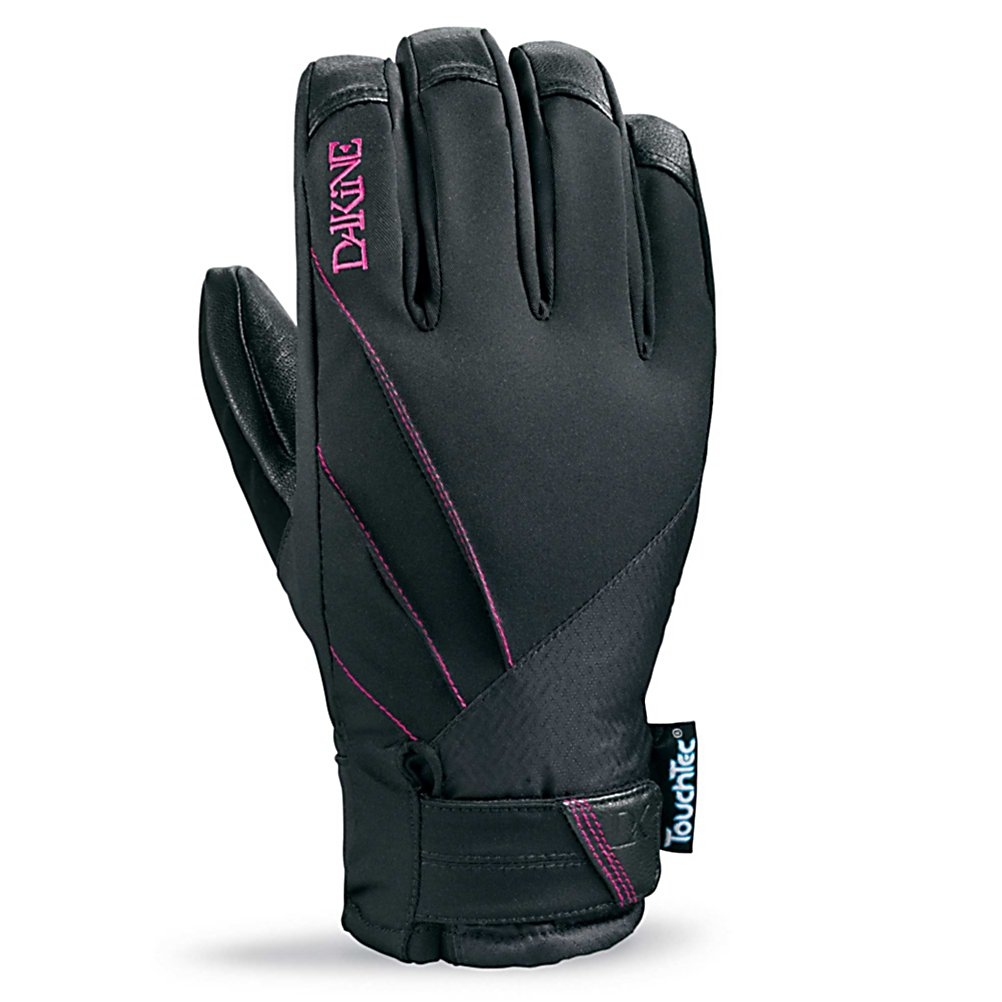 Ski Dakine Tempest Womens Gloves - The Dakine Tempest gloves are every womens backcountry dream glove. Charging at the mountain with style, the Tempest comes stacked with great features. Gore-Tex inserts provide waterproof feel and allow breathability, while the 4 way stretch nylon provides comfort all day long. The palm has touch screen compatible leather, so you can send photos, update your status, and post tweets to your friends showing them what they are missing out on. Primaloft insulation keeps your hands warm in the most fringed conditions. The Dakine Tempest glove is designed specifically to fit a womens hand, keeping your hands warm, dry, and breathable all day long on the slope. . Removable Liner: No, Material: 4-Way Stretch Nylon, Warranty: One Year, Battery Heated: No, Race: No, Type: Glove, Use: Ski/Snowboard, Wristguards: No, Outer Material: Nylon, Waterproof: Yes, Breathable: Yes, Pipe Glove: No, Cuff Style: Under the cuff, Down Filled: No, Touch Screen Capable: Yes, Model Year: 2013, Product ID: 283076 - $59.91