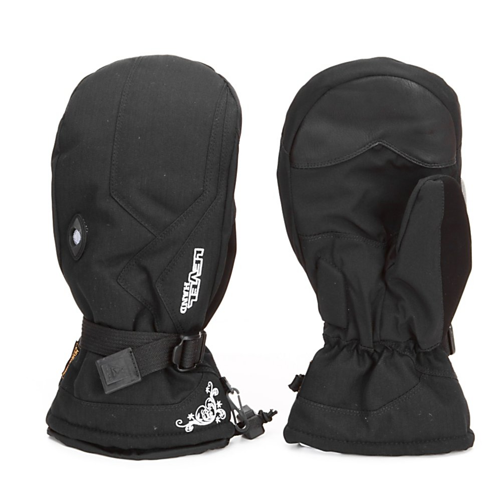 Ski Level Explorer Womens Mittens - The Level Explorer Mitten for women is a 3/4 length mitten that is the perfect compromise between a full gauntlet and an under-the-cuff style length. The removable thermo-liner gives maximum versatility. Use the liner for super cold protection or remove it for warmer days. 100% Waterproof with highly breathable membrane that works to optimize warmth and comfort by keeping the hands dry. The Thermoliner Insulation is a soft, supple and low bulk synthetic fiber insulation. The Level Breathable System is an air exchanger vent placed on the back of the glove that allows moisture to escape from the glove. The best solution to keep your hands dry and it improves the drying time of your glove by getting moisture out fast. Features: Breathable system, Thermoliner, Fleece, Membra-Therm Plus. Removable Liner: Yes, Material: Softshell, polyester, Warranty: Other, Battery Heated: No, Race: No, Type: Mitten, Use: Ski/Snowboard, Wristguards: No, Outer Material: Softshell, Waterproof: Yes, Breathable: Yes, Pipe Glove: No, Cuff Style: Over the cuff, Down Filled: No, Touch Screen Capable: No, Model Year: 2012, Product ID: 283997 - $44.95