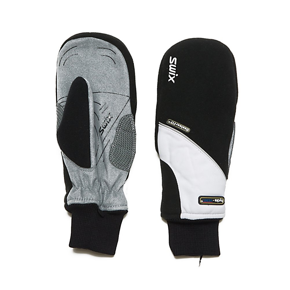 Ski Swix Gore Fleet Womens Mittens - The Swix Gore Fleet Womens Mittens are for the lady who wants comfort and breathablity. Featuring Swix Shock-Eze with impact zone palm accent padding with pleated memory foam and gel construction to keep handsprotected. Hydra-Vent a SWIX 3-Layer membrane that works to promote waterproof and breathable performance, keeping hands dry and comfortable even in the most severe conditions. Ladies who are looking for a mitten that will provide tremendous warmth and comfort. The Swix Gore Fleet Womens Mittens are a solid choice. . Removable Liner: No, Material: Gore Windstopper Fleece, Warranty: One Year, Battery Heated: No, Race: No, Type: Mitten, Use: Ski/Snowboard, Wristguards: No, Outer Material: Fleece, Waterproof: Yes, Breathable: Yes, Pipe Glove: No, Cuff Style: Under the cuff, Down Filled: No, Touch Screen Capable: No, Model Year: 2013, Product ID: 285226 - $44.95