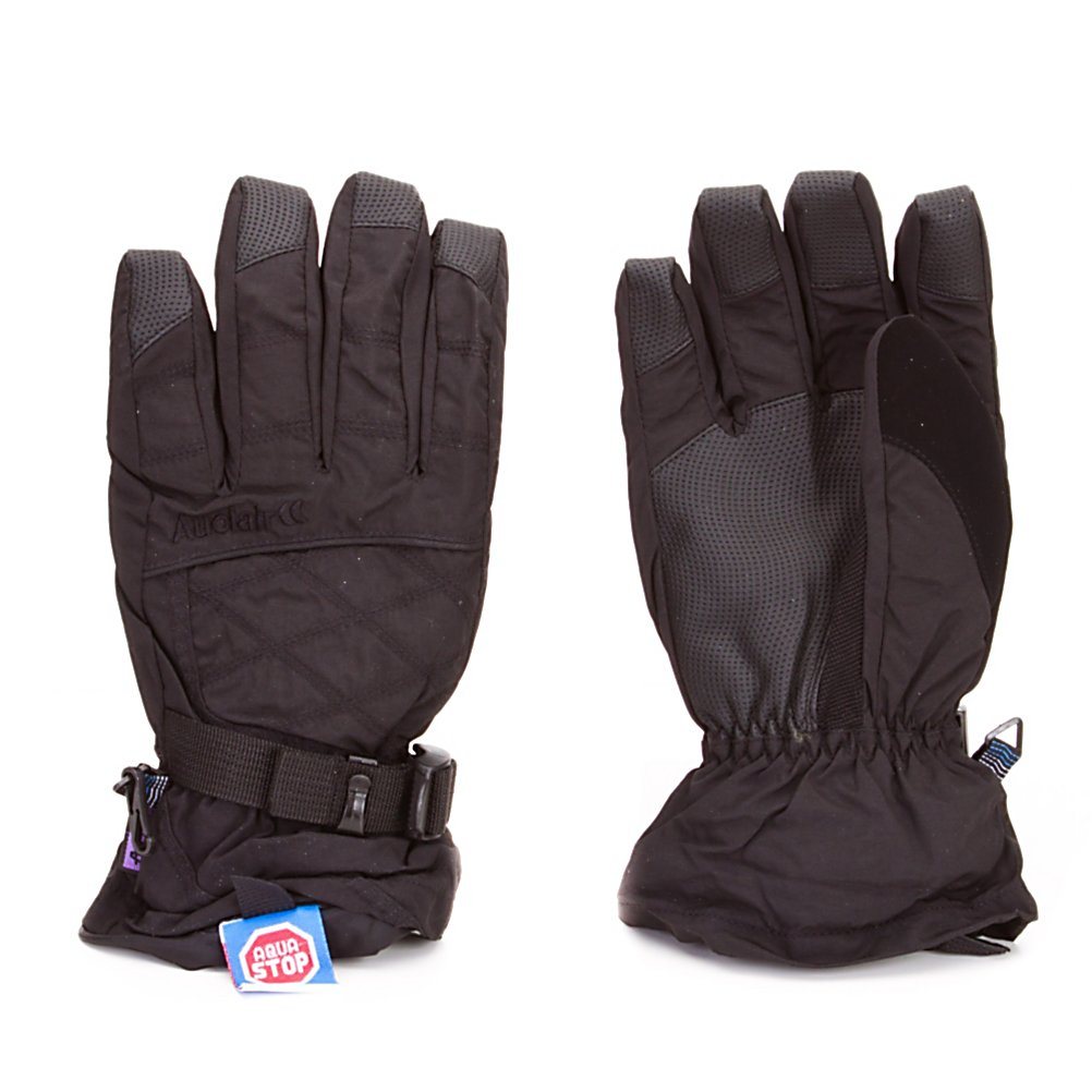 Ski Auclair Stitchy Womens Gloves - The Auclair Stitchy Womens Ski Gloves are super comfy and will keep your hands feeling warm and dry on the coldest days of the winter. The exterior offers a lightweight nylon fabric and leather palms to ensure durability and flexibility. Designed with Aqua Stop Inserts, these gloves will protect your hands from any exterior moisture trying to seep its way inside. You'll have Thinsulate Insulation inside these gloves to help keep your body heat trapped inside so you don't get chilly fingers. They are made with a breathable baby-soft fleece lining so as your hands sweat they moisture will wick away leaving you with dry and warm hands. If you want a soft and cozy glove that will keep your hands feeling good all day on the mountain then you'll want to wear these Auclair Double Stitchy Womens Ski Gloves. . Removable Liner: Yes, Material: 100% Nylon, Warranty: Other, Battery Heated: No, Race: No, Type: Glove, Use: Ski/Snowboard, Wristguards: No, Outer Material: Nylon, Waterproof: Yes, Breathable: Yes, Pipe Glove: No, Cuff Style: Over the cuff, Down Filled: No, Touch Screen Capable: No, Model Year: 2011, Product ID: 285473 - $29.95