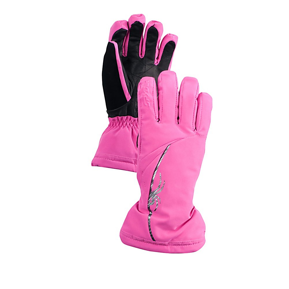 Ski Spyder Spark Gore-Tex Womens Gloves - The Spyder Spark Gore-Tex Glove is guaranteed to keep you warm and dry with a great look that will mix and match with your favorite Spyder winter outerwear. The waterproof and breathable Spark Glove sets the tone for complete protection as you are outdoors enjoying your sport. Add the Spark Glove to work for you as you take to your next cold weather adventure. Features: Pre-curved articulated fit, Single-handed drawcord. Removable Liner: No, Material: Polyester, Warranty: Lifetime, Battery Heated: No, Race: No, Type: Glove, Use: Ski/Snowboard, Wristguards: No, Outer Material: Softshell, Waterproof: Yes, Breathable: Yes, Pipe Glove: No, Cuff Style: Over the cuff, Down Filled: No, Touch Screen Capable: No, Model Year: 2013, Product ID: 286975 - $80.00